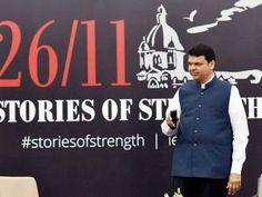 Maharashtra CM Devendra Fadnavis inaugurating the exhibition '2611 Stories of Strength'