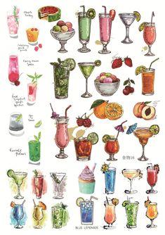 Drink and Dessert art Cute Food Drawings, Amazing Drawings, Realistic Drawings, Beautiful Drawings, Incase Art, Desserts Drawing, Anime Bento, Cute Food Art, Vintage Flowers Wallpaper