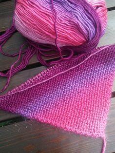 Нюансы вязания платочной вязкой от угла - knitting-pro.ru - От азов к мастерству