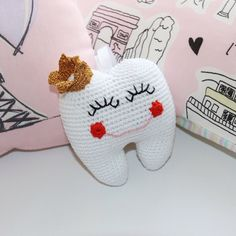 A personal favourite from my Etsy shop https://www.etsy.com/ie/listing/482498275/crochet-tooth-fairy-pillow-tooth-fairy
