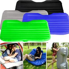 Portable Inflatable Travel Holiday Camping Car Seat Sleep Rest Mattress Air Bed