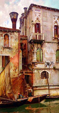 A Venetian Backwater Artist: William Logsdail