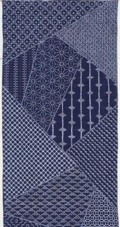 My first sashiko sampler, featured in Popular Patchwork in 2001 by Susan Briscoe