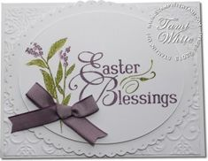 Stampin' Up! Easter Cards - Easter Blessings & Nature Walk stamp set.  Video tutorial