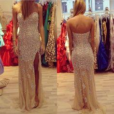 rhinestone prom Dress,charming Prom Dresses,Evening Dress,long prom dress,sweetheart prom dress,BD1655