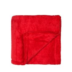 Debenhams Red fleece throw- at Debenhams.com