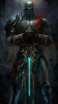 Titans Greek Mythology, Greek Mythology Art, Kratos God Of War, Joker Pics, Joker Art, Best Gaming Wallpapers, Animes Wallpapers, Fantasy Warrior, Fantasy Art