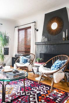 Browse 31 photos of bohemian inspired interiors filled with prints, ranging from tiles to textiles and wallpaper. Discover the best bohemian style decorating ideas for your living room, bedroom, and kitchen.