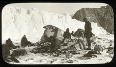 Scene on Elephant Island, after the releasing of the marooned men by Chilean tug Yelcho, 1916