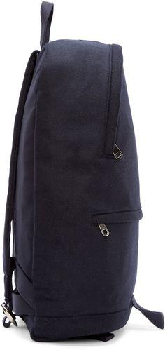 A.P.C. Navy Wool Stefan Backpack