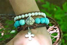 Turquoise Bracelet Stack.
