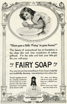 This old advertisement for Fairy Soap is from the July 1914 issue of The Ladies' World magazine, I love the detail in the frame of this ad. Click on image to enlarge.