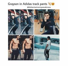 Grayson in adidas track pants appreciation pin😍 why is he s'cute? Ethan And Grayson Dolan, Ethan Dolan, Future Boyfriend, To My Future Husband, Dolan Twins Memes, Bae, Dollan Twins, My Demons, Magcon Boys