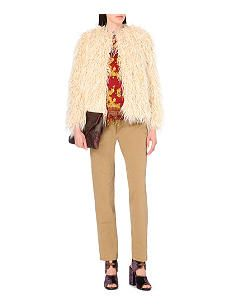 DRIES VAN NOTEN Reese faux-fur coat