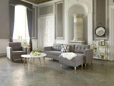 Bank en fauteuil FALSLEV + salontafels LEJRE | JYSK