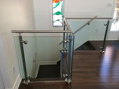 Another great project made by our team - 3 Section Custom Glass Railing. We can make your idea a reality. Glass Stairs, Glass Railing, Staircase Ideas, Staircase Design, Stainless Steel Staircase, Steel Stairs, Modern Stairs, Custom Glass, Glass Shower