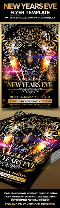 New Years Eve Flyer Template - Download…