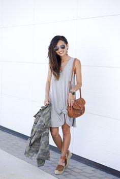 t shirt dress, marc fisher wedges, camo jacket, belk, saddle bag, aviators, ray bans, belk, http://www.belk.com/shop-by-brand/true-craft/?cm_mmc=Social-PIN-Free-Women-BTSDawnDarnell-Pin