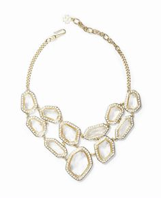 Ann Taylor large stone statement necklace