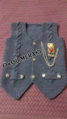 Baby Knit Vest Models New 2016 – gzd-fatoş-knk – Join the world of pin Baby Knitting Patterns, Hand Knitting, Baby Blanket Crochet, Crochet Baby, Old Sweater, Vest Pattern, Clothing Tags, Knit Vest, Baby Sweaters