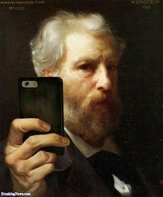 Bouguereau Taking a Selfie