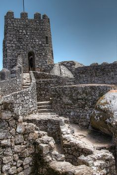 Castle of the Moors is a castle located in the town of Sintra, Portugal. The castle is of Moorish origin, but the current building is the result of a romantic renovation carried out in the 19th century. Originally, the Castle of Sintra was built between the 9th and 10th centuries. Arab chronicles depict the Sintra region as being very rich in cultivated fields. Its castle was one of the most important in the surroundings.