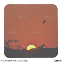 Sunset Party Coaster Square Paper Coaster