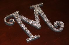 Wooden Letter Covered in Gems