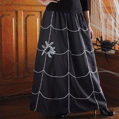 Halloween Spider Skirt