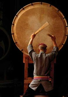 """""""Your heart is a taiko. All people listen to a taiko rhythm, dontsuku-dontsuku in their mother's womb. It's instinct to be drawn to taiko drumming"""" ~ Daihachi Oguchi, jazz drummer    Yes, i want a Taiko drum. On the other hand, i'm trying to imagine what it would be like to lug this around with everything else we own (including two cats and a dog) as we travel around following Mark's job... lol!"""