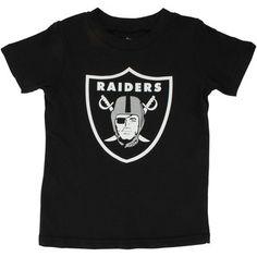 Oakland Raiders Toddler Black Team Logo T-Shirt - Nfl Oakland Raiders Logo, Nfl Store, Raiders Baby, Nfl Gear, Football Outfits, Uniform Design, Kids Logo, Cool Tees, 6 Years