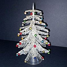We know, we know...it's only October but hey, it's not too early to start thinking about Christmas. Crystal Pine 1940s Tabletop Centerpiece Christmas Tree  http://www.tias.com/cgi-bin/item.fcgi?itemKey=3924156062