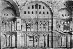 North side of the nave in Hagia Sophia