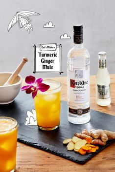 We give you the perfect marriage of turmeric, ginger, and paprika all in a cocktail. Don't forget the grand finale: an edible flower! #DrinkMarvelously...