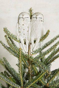 Owl Couplet Tree Topper