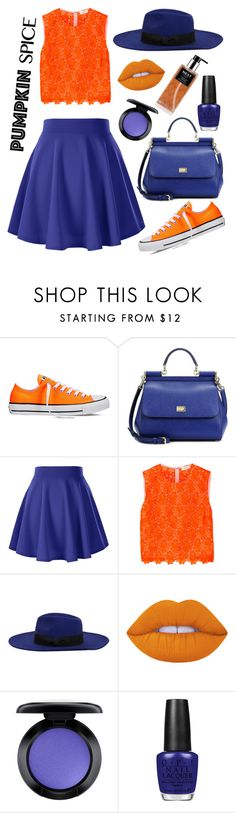 """""""#pumpkinspice #🍂"""" by baeminty ❤ liked on Polyvore featuring Converse, Dolce&Gabbana, A.L.C., MANGO, Lime Crime, MAC Cosmetics, OPI and Nest Fragrances"""