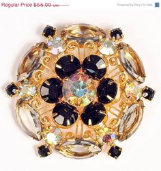 On Sale 50% off Fabulous Unfoiled Juliana Style Brooch. $27.50, via Etsy.
