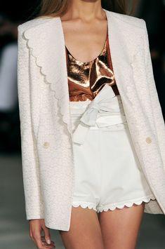 scalloped white & coppertone