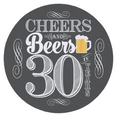Shop Cheers and Beers to 30 Years Drink Coasters created by PuggyPrints. 30th Birthday Cakes For Men, Birthday Memes For Men, Beer Birthday Party, Hockey Birthday, 30th Birthday Parties, Birthday Party Themes, 50 Birthday, 50th Party, Birthday Ideas