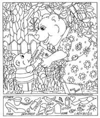 Summer Fun - Hidden Picture Puzzle/Coloring Page | Puzzles-Logic ...