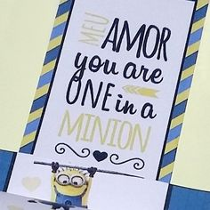 "DIY Dia dos Namorados: Caixinha ""you are one in a MINION"""