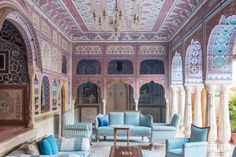 Jaipur's ornate Samode Palace, 450 years old, and now a hotel.
