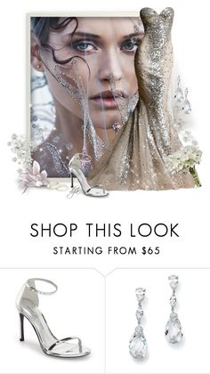 """Silver Wedding-Zuhair Murad wedding dress"" by dgia ❤ liked on Polyvore featuring Zuhair Murad, Stuart Weitzman and Palm Beach Jewelry"