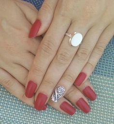 Red nails ~ opi matte top coat ~ summer idea ~ nail art