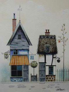 Gary Walton watercolour 'Apple Cottage'