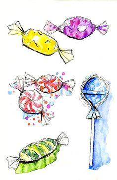Candies Illustrations
