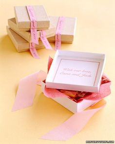 Custom Stamped Favor Boxes
