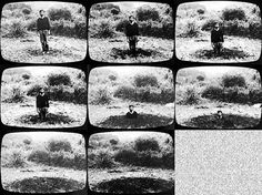 Keith Arnatt, Self Burial (Television Interference Project), 1969