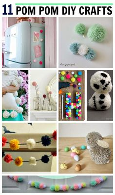 11 cute pom pom crafts!! #diy #pompom #garland #tutorial