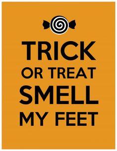 Halloween smell my feet 500x647 31 Days of Halloween: Halloween Printables